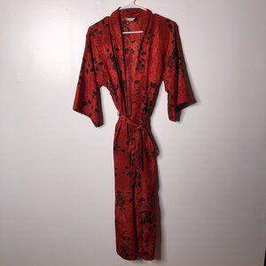 California Dynasty Womens Vintage Kimono Robe Sz S